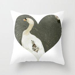 Mother Swan IV Throw Pillow