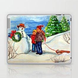 Christmas Watercolor 0001  - Mildred Stazer Laptop & iPad Skin