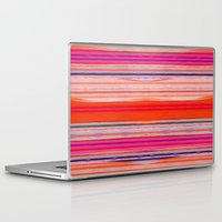 stripes Laptop & iPad Skins featuring stripes by spinL