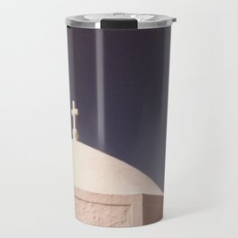 Blue Over White Travel Mug