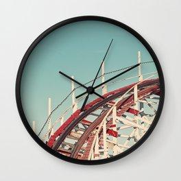 Coast - Vintage Santa Cruz Roller Coaster Wall Clock