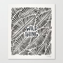 Wild Thing – Black Palette Canvas Print