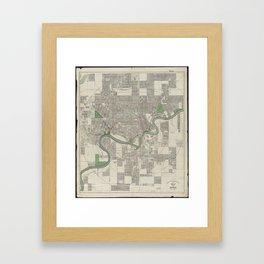 Vintage Map of Edmonton Canada (1912) Framed Art Print