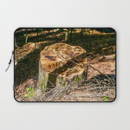 Tree Stump of cut down Tree in the Forest (orange/brown) Laptop Sleeve