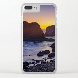 Cobble Beach at Yaquina Head Clear iPhone Case