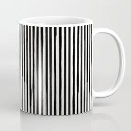 Skinny Stroke Vertical Black on Off White Coffee Mug
