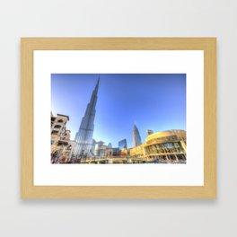 Burj Khalifa Dubai Framed Art Print