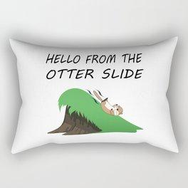 Hello from the Otter Slide Rectangular Pillow