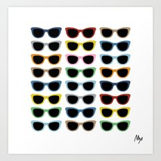 Sunglasses #3 Art Print