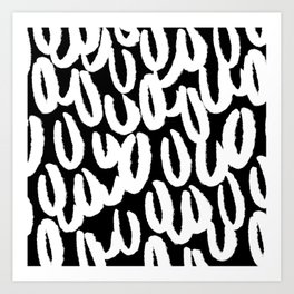 Brushy white and black - classy college student collection Art Print