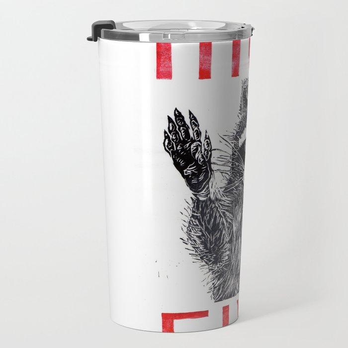 Raccoon High Five  Travel Mug