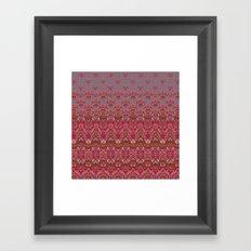 Farah Blooms Red Framed Art Print