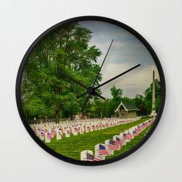 Veterans Salute Wall Clock