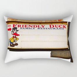 The Friendly Duck Restaurant Rectangular Pillow