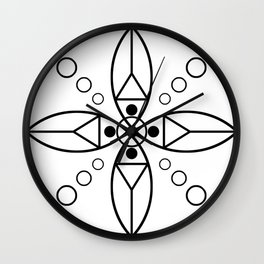 Ancient Religious Symbols Wall Clock