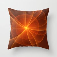 fractal Throw Pillows featuring Fractal by gabiw Art
