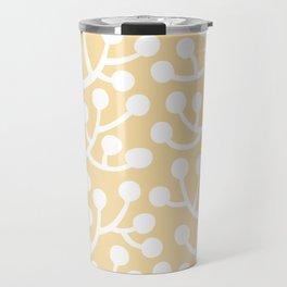 Beautiful Vine Pattern with Berries 734 Yellow Travel Mug