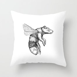 Bumblebear Throw Pillow