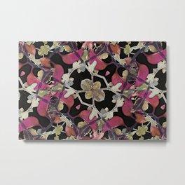 Floral Arabesque New Noveau Decorative Pattern Metal Print