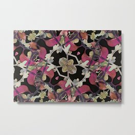 Floral Arabesque New Noveau Decorative Pattern Metal Print