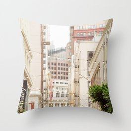 San Francisco Daydreaming in Union Square Throw Pillow