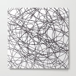Abstract Art Scribbles Metal Print