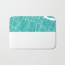 Poznan map turquoise Bath Mat