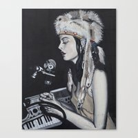 dj Canvas Prints featuring DJ by Laura Preston