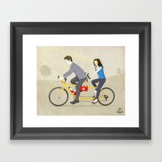 Hop on Spider Monkey Framed Art Print