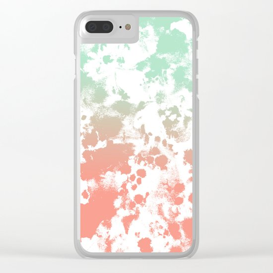 Abstract minimal ombre fade painted trendy modern color palette Clear iPhone Case