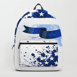 USA Flag Colon Cancer Suppor Backpack
