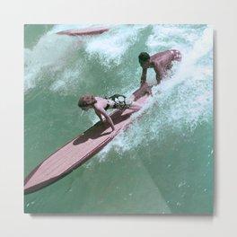 Vintage Surfer Magazine Cover Metal Print