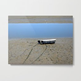 Rowing Boat on the Mudflats Metal Print