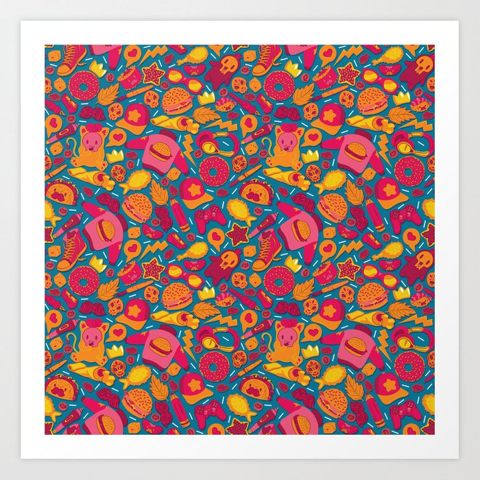Color Pattern Art Print