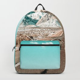 Vintage Desert Road // Winter Storm Red Rock Canyon Las Vegas Nature Scenery View Backpack