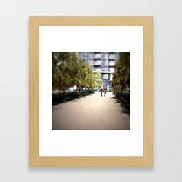 A Quiet Walk Mini Framed Art Print
