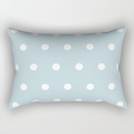 Small White Dots on BBLue Rectangular Pillow