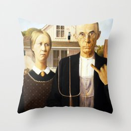 american fucking gothic! Throw Pillow