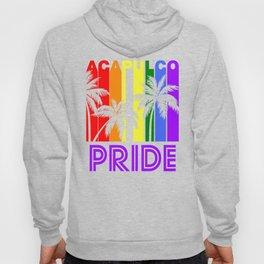 Acapulco Pride Gay Pride LGBTQ Rainbow Palm Trees Hoody