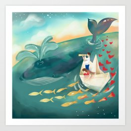 Adventures at Sea Art Print