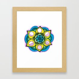Mandala out of f-cks. Framed Art Print