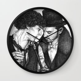Dr. Holmes and Mr. Moriarty Wall Clock