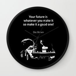 Back to the Future Doc Brown Quote 80s poster Wall Clock