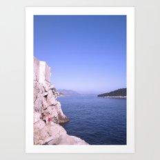 Cliff Diver Art Print