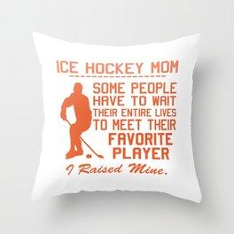 ICE HOCKEY MOM Throw Pillow