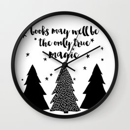 Books May Well Be the Only True Magic Wall Clock