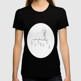 Dog Flower Sketch T-shirt