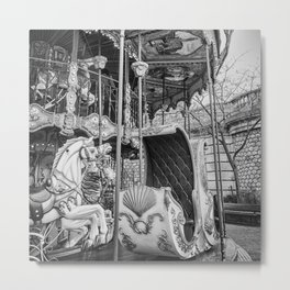 Old Carousel in Paris Metal Print