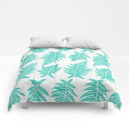 Inked Ferns – Turquoise Palette Comforters