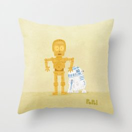 C3PO and R2D2 Throw Pillow